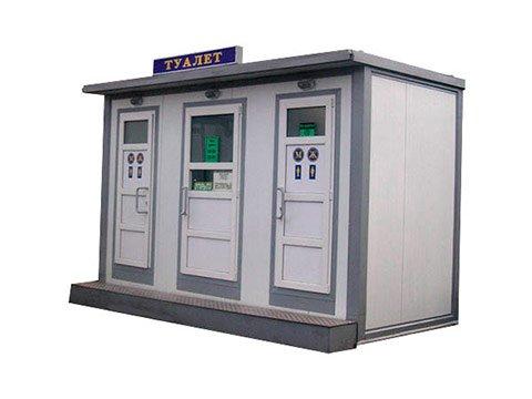 Автономный туалет для рынка