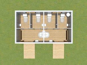 Двухместные туалеты