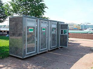 Мобильные туалетные модули
