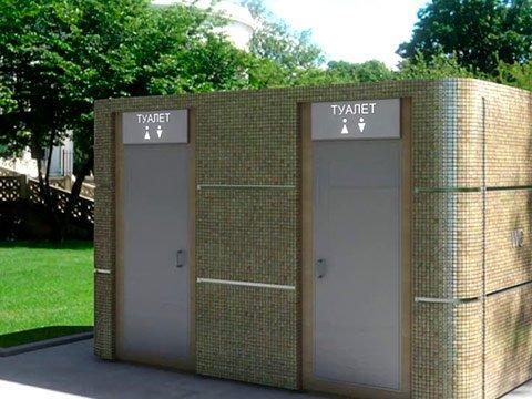 Модульный туалет с кабинками