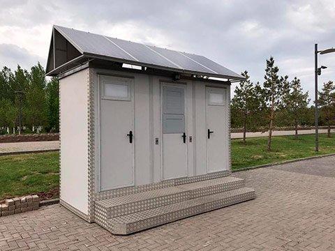 Модульный туалет сетевой