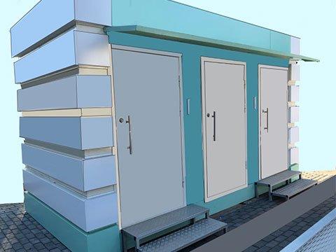 Сетевой модульный туалет